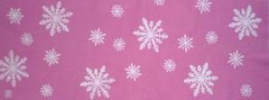 雪の結晶~ピンク