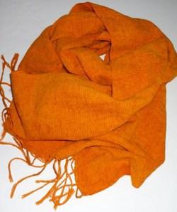 綿ストール~オレンジ