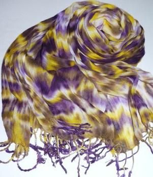 綿ストール~紫