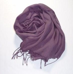 ガーゼストール房付き~深みの紫