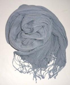 綿のストール~灰青