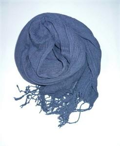ふんわり綿のストール(青みかかったグレー色)