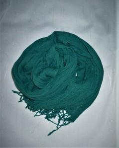 ふんわり綿のストール(エメラルドグリーン色)